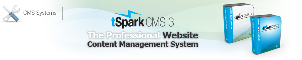 tSpark CMS, the Professional Website Content Management System