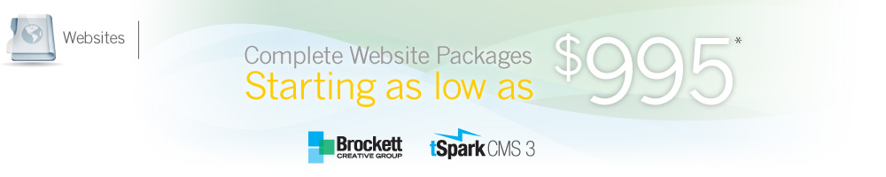 Websites - Complete Packages Starting as low as $995
